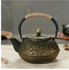 900ml Black Cast Iron Japanese Tetsubin Teapot Kettle Stainless Steel Strainer