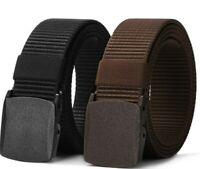 Nylon Canvas Breathable Military Tactical Men Waist Belt with Plastic BuckleK