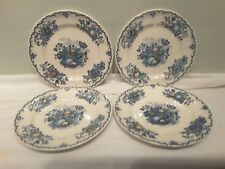 A Set of Four Mason's Fruit Basket Multi Colored Blue Dessert Plates
