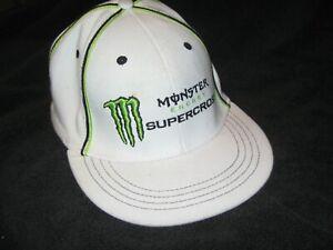 MONSTER ENERGY SUPERCROSS Motocross Racing CAP Flex Fit HAT Unique TAN Color EUC