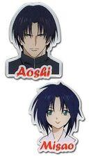 *NEW* Rurouni Kenshin Ova Aoshi & Misao Pin Set of 2
