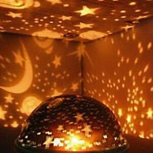 LED Star Projector Baby Night Light Nursery Children Room Lighting Lamp Purple