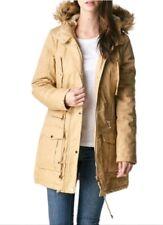 Ladies Gorgeous Faux Fur Winter Parka Warm Jacket Hooded Winter Coat Khaki Small