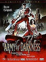 Army of Darkness DVD (SET) LIMITED EDITION - RARE - THX DIGITALLY MASTERED