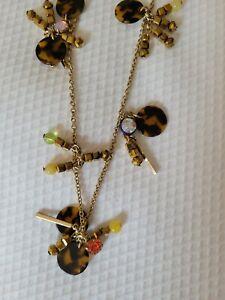 J.Crew Tortoise Multi-Color Statement Women's Pendant Necklace
