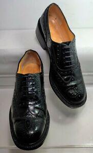 ROBERT CLERGERIE Roeln Oxford Wingtip Chunky Heel Women US 9 Made In France