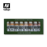 Vallejo VAL70124 Faces and Skintones 8 Colour Paint Set - Brand New