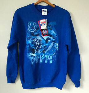 NEW VTG Indianapolis Colts Sweatshirt FOOTBALL Pro Player Adult Small (Youth XL)