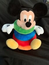 Disney Baby Stackable Mickey mouse Stuffed Plush Pillow Ring Toss A2