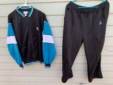 Men's VTG 1990s Adidas Colorblock Polyester Tracksuit Jacket & Pants Large