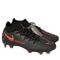 Nike ACC Phantom GT Elite DF FG Black Red Soccer Cleats CW6589-060 Men's Sz 8.5