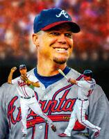 Chipper Jones Atlanta Braves MLB Turner Field Baseball Stadium Art Print 3 11x14