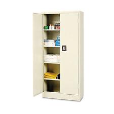 Alera Space Saver Storage Cabinet, Four Shelves, 30w x 15d x 66h, Putty CM6615PY