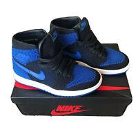 "BRAND NEW Nike Air Jordan 1 Retro High OG Flyknit ""Royal""  Size 4Y"