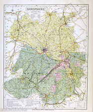 SHROPSHIRE - Original Antique County Map - LETTS, 1884, suitable for framing