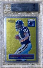 2001 TOPPS CHROME HERITAGE REFRACTOR /556 LADAINIAN TOMLINSON RC BGS 9 REGISTRY