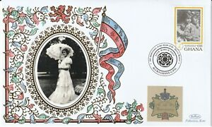 GHANA 2007 QUEEN MOTHER 5th ANNIVERSARY OF HER DEATH BENHAM LE COVER a