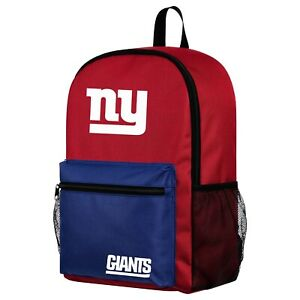 NFL New York Giants Two Tone Backpack with Team Logo