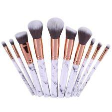 10pcs Marbling Kabuki Professional Make up Brushes Set Blusher Face Brush Powder