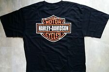 T shirt harley davidson Logo  schwarz  XL
