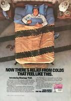 Vintage 1987 Dimetapp Plus Cold Medicine PRINT AD Run Over By a Truck Feeling