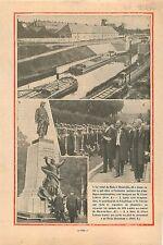 Canal Metz Thionville Albert Lebrun Édouard Herriot Cimetière 1932 ILLUSTRATION