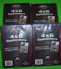 100 4X6 Toploaders, Rigid Pvc, Will Hold Photos, Cards, And More, Archival Safe