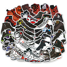 100 PCS MJ Basketball Shoes Stickers Decal Luggage Laptop Skateboard Locker