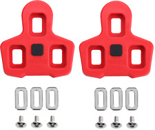 Look Delta Compatible Pedal Indoor Cycling Peloton Cleats Red 9 Degree Float