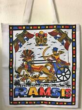 EGYPTIAN SCREEN PRINT HUGE CANVAS TOTE BAG SHOPPER PHAROAH RAMSES & HORUS 17X16""
