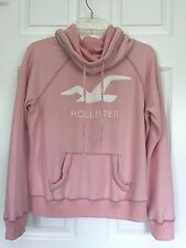 HOLLISTER Womens-Juniors Cowl Neck Pullover Hoodie-Sweater- Pink -Size M *NEW*