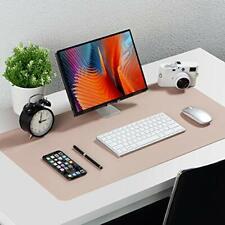 Knodel Desk Mat, Office Desk Pad, 40cm x 80cm PU Leather Desk Blotter, Laptop
