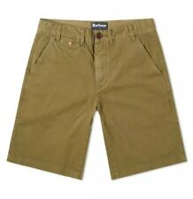BARBOUR Neuston Twill Regular Fit Shorts New Military Green Mens Size 32W BNWT