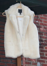 Forever 21 Faux Fur White Vest Coat Jacket New With Tags Size M