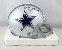 Roger Staubach Autographed Dallas Cowboys Mini Helmet - Beckett W *Black