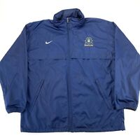 TEAM NIKE Fit Storm Mens Size Large Navy Blue ETSU Tennessee State Soccer Jacket