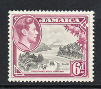 Jamaica 6d c1938-52  Mounted Mint Stamp (2023)
