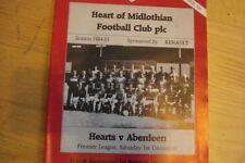 Written-on Teams F-K Heart of Midlothian Football Programmes