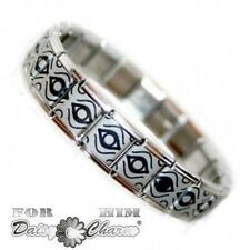 JSC Mens Mexican Eye Stainless Steel Charm Bracelet