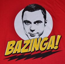 Big Bang Theory BAZINGZA! RED ADULT T-Shirt  Officially Licensed Merchandise