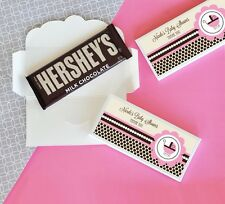 100 Personalized Pink Baby Shower Candy Bar Wrappers Baby Shower Favors