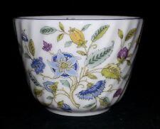 "Minton Haddon Hall Blue - Open Sugar / Cranberry Bowl - 4"" Diameter x 3"" Tall"