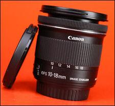 Canon EF-S 10-18mm Image Stabiliser F4.5-5.6 IS STM Zoom Lens + F/R Lens Cap