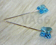 2p Crystal Butterfly Pins Scarf Jarum 43mm gold silver Tudung Pin Muslimah Blue