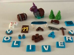 Fortnite video game personalised cake topper handmade edible birthday unofficial