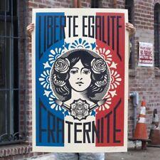 Shepard Fairey (OBEY) - Liberté Egalité Fraternité - Lithographie Signed - 2021