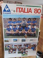 Calcio Football Poster Nazionale Europei Italia'80 Le Coq Sportif, Bettega,Zoff