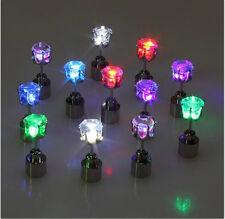 Leuchtende LED Ohrstecker Ohrringe Disko Party Ohrschmuck Disko 6  Farben NEU