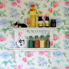 1:12 Dollhouse Miniature Kitchen White Wooden Wall Shelf Shelving Rack Nice New