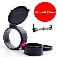 "1.9""&1.6""/48mm&42mm Dustproof Caps Cover For 40mm Rifle Optic Scope Sight Lens"